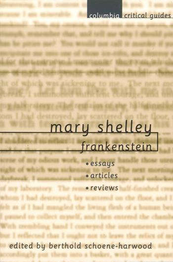 frankenstein mary shelley essay Read this literature essay and over 88,000 other research documents frankenstein mary shelly's book, frankenstein, is about and contains a lot of different motifs.