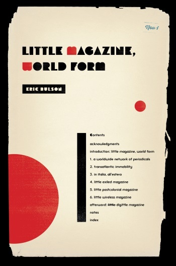 Little Magazine, World Form, Eric Bulson
